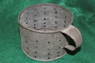 Civil War Soldier's Tin Cup, modified for straining and cooking