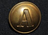 "Civil War Confederate Block ""A"" Artillery button"