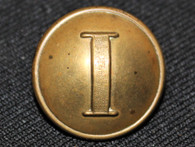 "Confederate Infantry ""I"" button, English backmark"