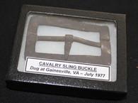 Carbine Sling Buckle, dug in Gainesville, VA July 1977