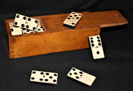 Cased set of Civil War era Dominos