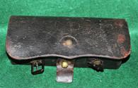 Civil War Cavalry Carbine Cartridge Box, E. Gaylord (SOLD)