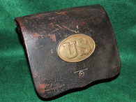 Dated Civil War Cartridge Box, Watertown Arsenal (partial ID)