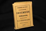 Original Civil War tobacco package display, as in Gettysburg Museum