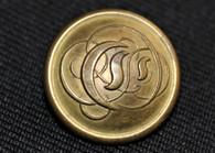 """Rare - Confederate Script """"C"""" Cavalry button"""