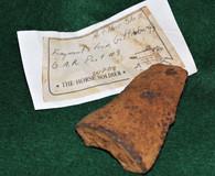 Civil War Artillery shell fragment from GAR Post, Gettysburg (SOLD)