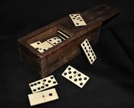 Wood-cased set of Civil War Dominos