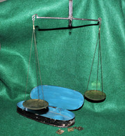 Cased set of Civil War Surgeon's Apothecary Scales