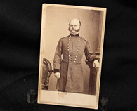 Civil War General Ambrose Burnside standing CDV image, Brady