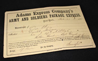 Rare Adams Express Document of a soldier in the 47th New York Infantry