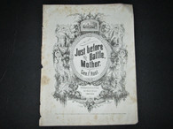 "Sheet Music 1864 ""Just Before the Battle Mother"""