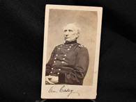 Autographed CDV image of Civil War General Silas Casey