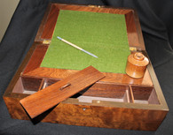 Civil War Soldier's Lap Desk with inkwell and patriotic pencil