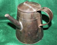 Large Tin Camp Coffee Pot, very nice