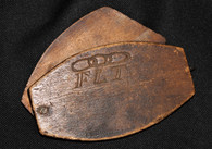 "Civil War Soldier's Personal Sliding Mirror, soldier member of ""Odd Fellows"""