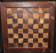 Rare wooden Civil War era homemade Checkerboard
