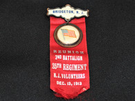 New Jersey Reunion Ribbon, 25th NJVI, dated 1913