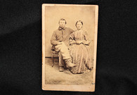 Identified CDV image of Pennsylvania soldier and his wife, wounded (SOLD)