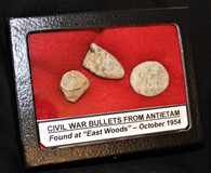 "Fired bullets from the ""East Woods"" at the Antietam Battlefield"