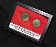 Buttons from Dunker Church, Antietam