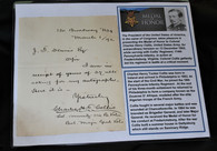 Original signed letter by General Charest Collis, 114th PA, Medal of Honor winner (SOLD,BH)