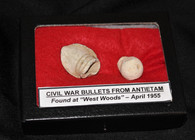Civil War bullets recovered in the West Woods of Antietam, April 1955