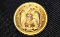 Rare original Confederate Officer's button with the Eagle facing left