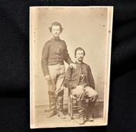 Original Civil War CDV image of two Cavalrymen