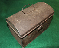 Early to mid-19th Century Domed Tin Document Box