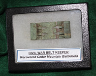 Original Brass Belt Keeper for an issued Union belt, dug at Cedar Mountain, VA