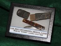 Civil War Surgeon's cased Lancet Fleam, maker marked, as in museum
