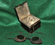 Civil War Protective/Gunner's Goggles in tin case