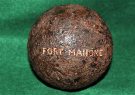 Confederate 12-pounder Cannonball from Ft. Mahone, Petersburg (SOLD,BH)