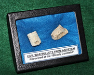 """Two fired bullets recovered from the """"Bloody Cornfield"""", on the Antietam Battlefield"""