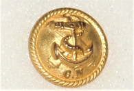 """Beautiful Confederate Navy Cuff button with """"CN"""", bm - """"COURTNEY & TENNENT"""""""