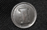 "Confederate Civil War Pewter Infantry ""I"" button"