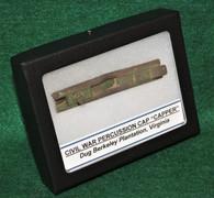 """Civil War soldier's percussion cap """"Capper"""", dug at Harrison's Landing, VA"""