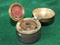 Civil War Soldier's Traveling Inkwell with bottle inside