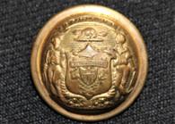 Original Civil War Wisconsin State Seal coat-size button