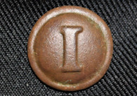 "Confederate Infantry Block ""I"" button, Richmond bm, dug at Ft. Fisher, NC"