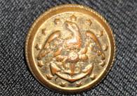 Original Civil War Navy button, non-excavated
