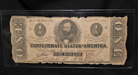Original Confederate One-Dollar Bill from Richmond, dated Dec. 2nd, 1862