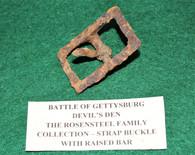 Buckle recovered at Devils Den, Gettysburg – Rosensteel collection
