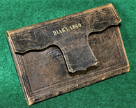 Original pre-Civil War identified pocket diary of a Boston shipwright,1860 Boston