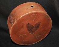 """Original Revolutionary War/War of 1812 wooden """"Cheesebox"""" canteen, partial ID"""