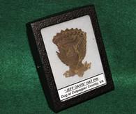 """Regulation enlisted man's 1858 """"Jeff Davis"""" hat pin, dug Culpepper"""