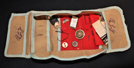 """Civil War Soldier's Sewing Kit """"Housewife"""" with needles, thread, and buttons (SOLD,BG)"""