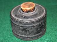 Civil War Soldier's Inkwell with original paper label