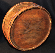 Identified Confederate Wood Drum canteen with Crossed-Sabers