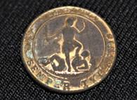 Original Civil War Confederate Virginia Coat Button with original thread